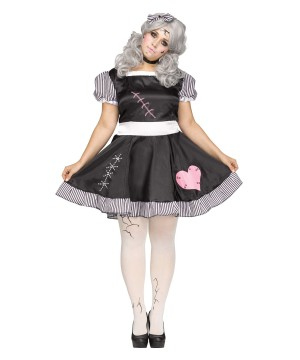 Broken Doll Women Plus Size Costume