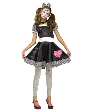 Broken Doll Teen Halloween Costume, Juniors (0?9)