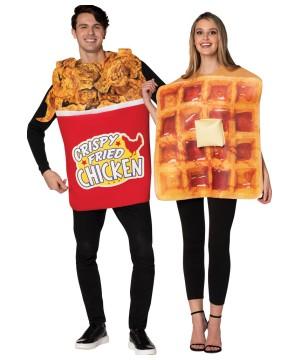 Bucket Chicken Waffle Couple