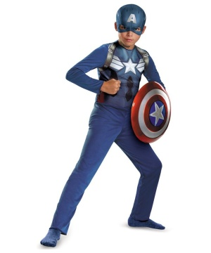 Officially Licensed Captain America New Movie Basic Boys Costume