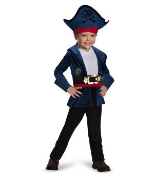 Jake Little Boys Never Land Pirates Disney Costume & Pirate Hat 3t