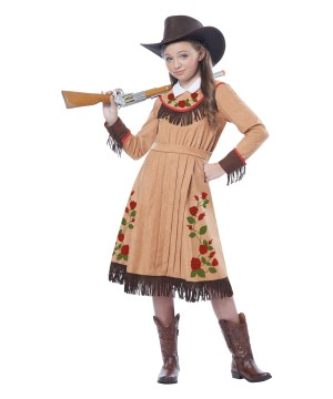 Star Cowgirl Annie Oakley Girls Wild West Costume