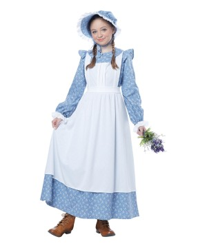 American Pioneer Girl Colonial Costume