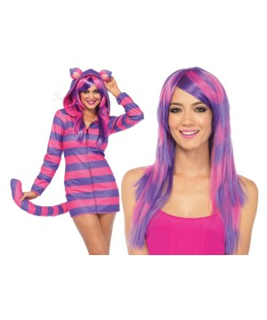 Alice in Wonderland Cozy Cheshire Cat Lady Costume Kit