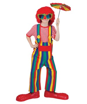 Childs Striped Clown Overalls