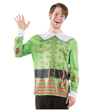 Ugly Christmas Elf Sweater Costume Shirt