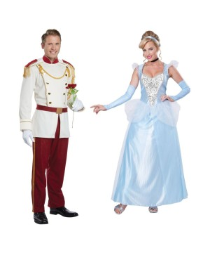 Prince Charming Men Costume And Cinderella Women Costume