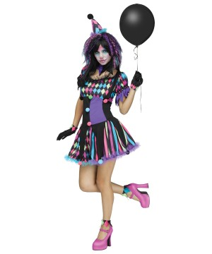 Circus Clown Woman Costume