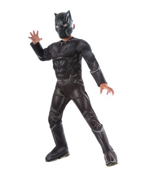 Captain America: Civil War Black Panther Muscle Boys Deluxe Costume