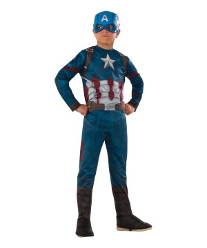 Civil War Movie Captain America Boys Costume