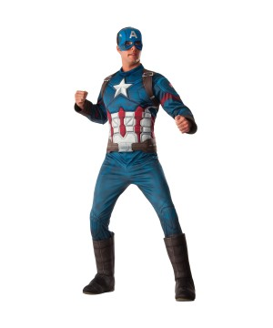 Captain America: Civil War Deluxe Captain America Men Costume