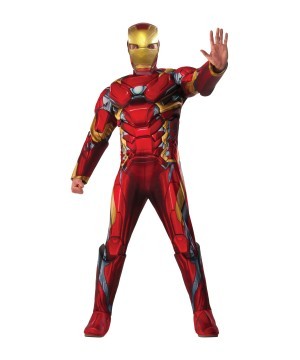 Captail America: Civil War Deluxe Iron Man Men Costume