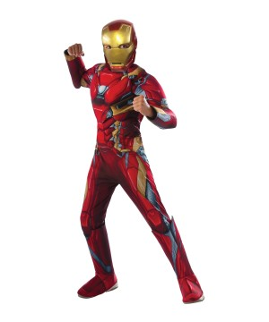 Captain America: Civil War Iron Man Deluxe Boys Costume