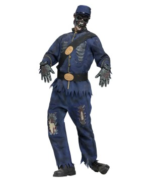 Civil War Zombie Union Soldier Men Costume