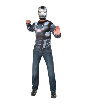 Captain America: Civil War War Machine Shirt And Mask Men Set