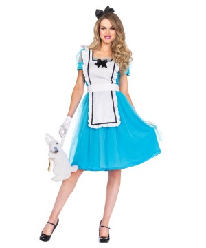 Alice In Wonderland Womens Disney Halloween Party Costume Classic