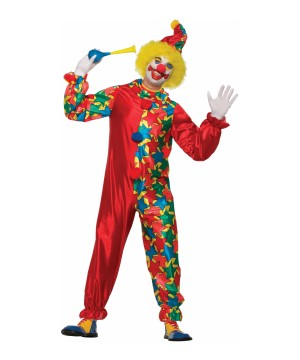 Rainbow Clown Men Costume