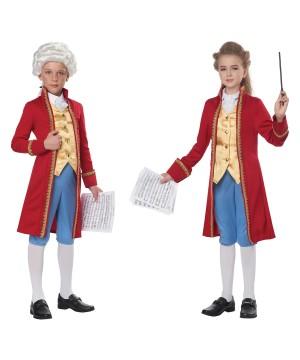 Classical Composer Mozart /amadeus Kid Costume