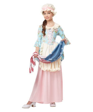 Colonial Lady Girls Historical Costume