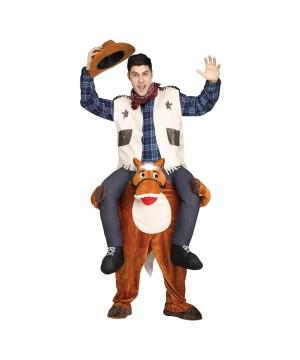 Riding On Shoulder Cowboy Men Costume