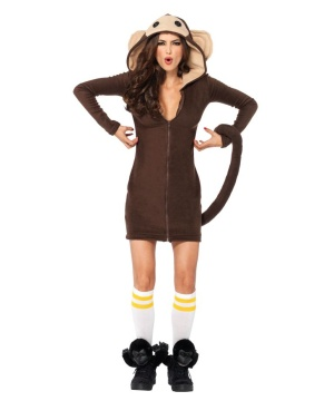 Cozy Monkey Womens Costume Deluxe