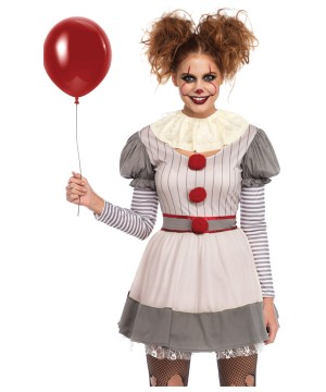 Creepy Clown Women Costume