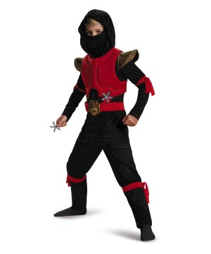 Red And Black Ninja Boys Costume Deluxe
