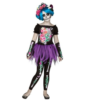 Girls Day Of The Dead Bones Costume