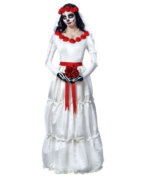 Day Of The Dead Bride Women's Costume Dress