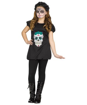 Day Of The Dead Girls Romper Costume