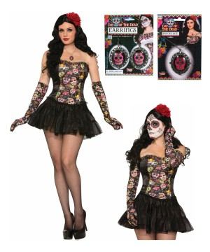 Day Of The Dead Womens Costume Accessory Kit