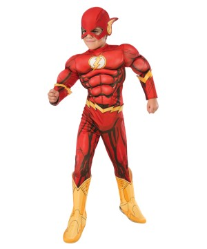 Dc Comics The Flash New 52 Boys Superhero Muscle Costume Deluxe