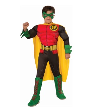 The New 52 Robin Muscle Dc Comics Boys Costume Deluxe