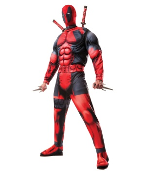 Deadpool Mens Deluxe Muscle Chest Costume