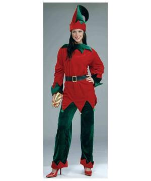 Deluxe Elf Christmas Women Costume