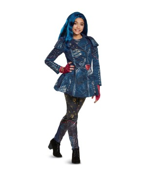 Girls Descendants 2 Evie Costume And Wig