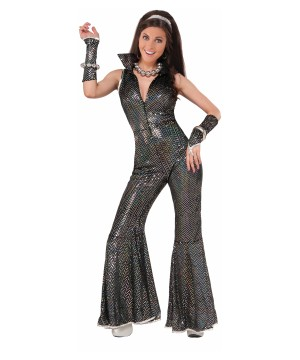 Disco Women Costume Jumpsuit