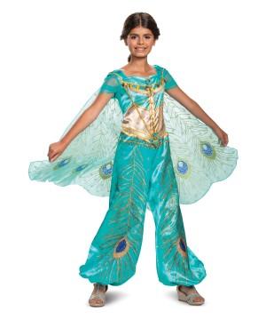 Jasmine Teal Deluxe Girls Costume