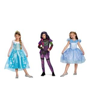 Disney Cinderella Elsa And Mal Costume Set