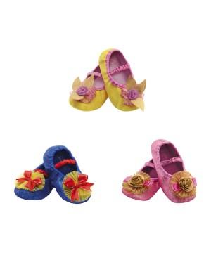 Disney Princess Aurora Belle And Snow White Toddler Slippers Kit