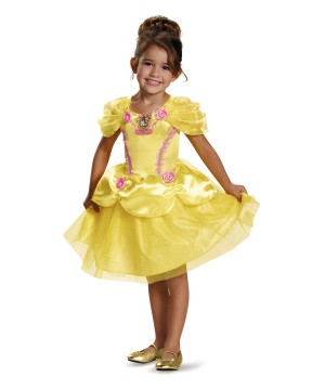 Disney Beauty And The Beast Princess Belle Little Girls Costume Gown