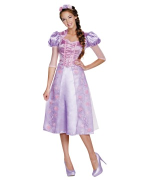 Princess Rapunzel Women Dress Disney Costume
