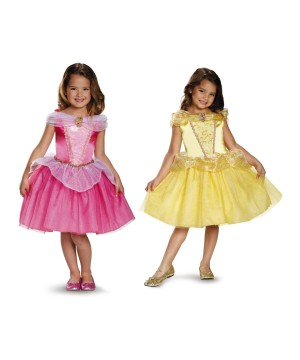 Disney Belle And Aurora Girls Costumes