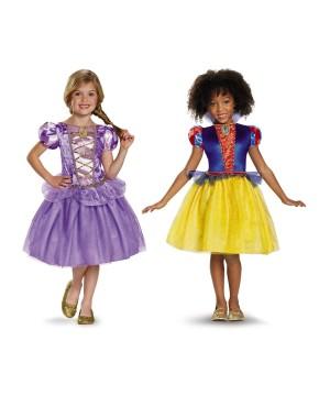 Disney Rapunzel And Snow White Girls Costumes