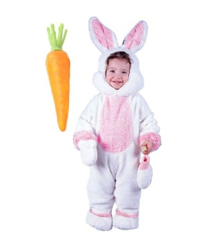 Easter Bunny Baby Boy And Carrot Prop Costume Set