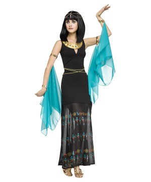 Stylish Hieroglyph Egypitan Queen Women Costume