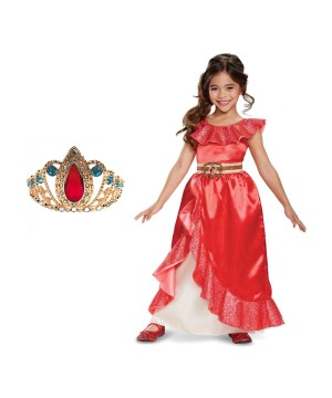 Girls Elena Of Avalor Costume And Tiara Set