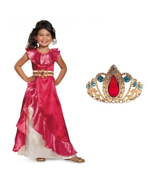 Disney Princess Elena Of Avalor Dress And Tiara Costume Set