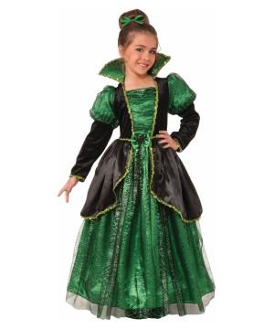 Emerald Style Witch Princess Big Girls Costume
