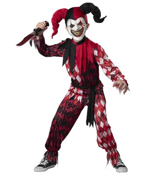 Evil Jester Boys Costume